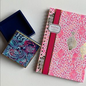 NEW Lilly Pulitzer Jewelry Box & Notebook Set